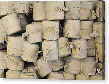 Bags Of Flax Canvas Print by Magomed Magomedagaev