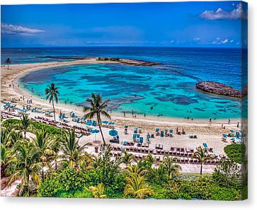 Canvas Print featuring the photograph Bahamas. Nassau by Anna Rumiantseva
