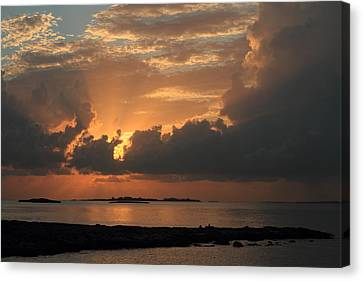 Canvas Print featuring the photograph Bahamas Sunset by Coby Cooper