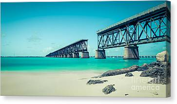 Hannes Cmarits Canvas Print - Bahia Hondas Railroad Bridge  by Hannes Cmarits
