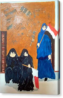Bahraini Women Canvas Print by Andrea Friedell