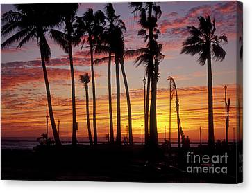 Canvas Print featuring the photograph Baja Sunset La Paz  Mexico by John  Mitchell
