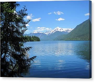 Canvas Print featuring the photograph Baker Lake by Karen Molenaar Terrell