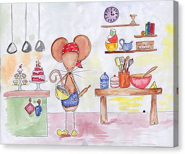 Bakery Mouse Canvas Print by Sarah LoCascio
