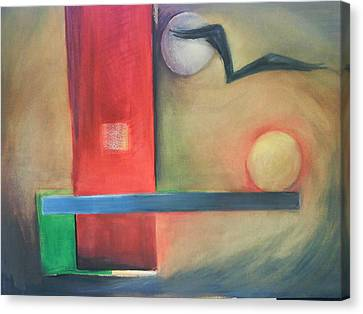 Canvas Print featuring the painting Balance by Jan Swaren