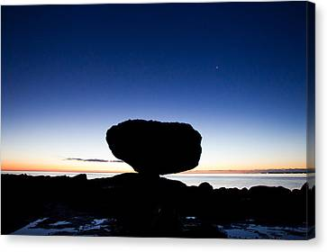 Balancing Rock Sunrise Canvas Print by Brandon Broderick