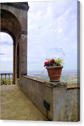 Balcony To Rome Canvas Print by Mindy Newman