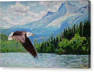 Bald Eagle Fishing Canvas Print