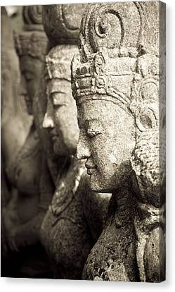 Bali, Indonesia, Asia Stone Statues Canvas Print by Keith Levit