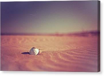 Ball At Beach Canvas Print by Alberto Cassani