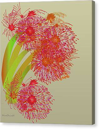 Canvas Print featuring the digital art Ball Of Fire by Asok Mukhopadhyay