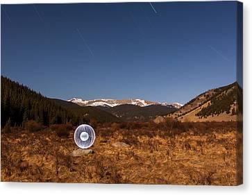 Ball Of Light Geneva Creek Valley Canvas Print by Richard Steinberger