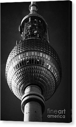 ball of the berliner fernsehturm Berlin TV tower symbol of east berlin Germany Canvas Print
