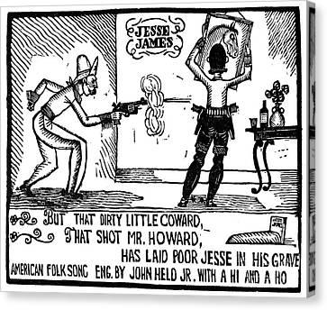 Ballad Of Jesse James Canvas Print by Granger