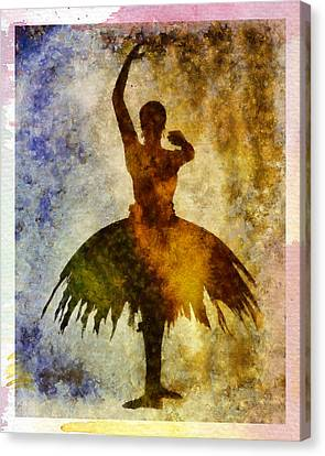 Ballerine Canvas Print - Ballerina 1 With Border by Angelina Vick