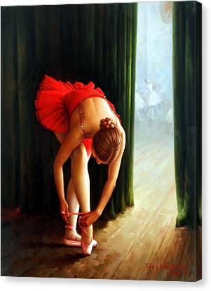 Ballerina 2 Canvas Print by Yoo Choong Yeul