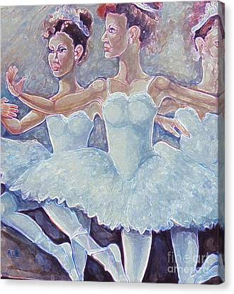 Canvas Print featuring the painting Ballerina Dance by Rita Brown