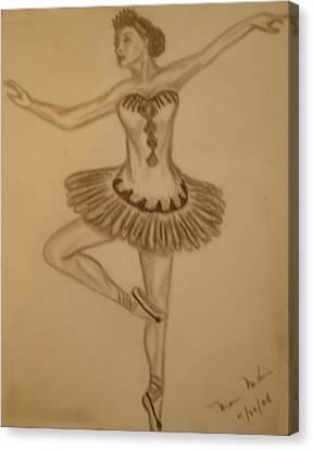 Ballerina Canvas Print by Maria Medina