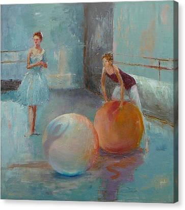 Ballet Class With Balls Canvas Print by Irena  Jablonski