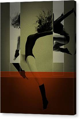 Ballet Dancing Canvas Print by Naxart Studio
