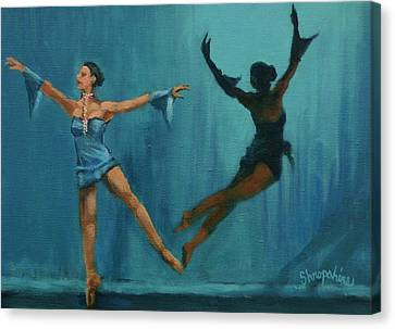 Ballet Dancers Canvas Print - Ballet Leap by Tom Shropshire