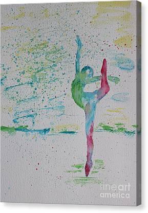 Ballet Pointe 2 Canvas Print by Carolyn Weir