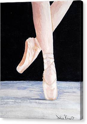 Ballet Shoes Canvas Print by Julie Kraft