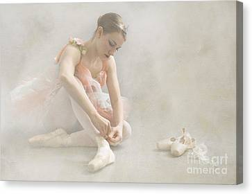 Ballet Slippers D003986-b Canvas Print by Daniel Dempster