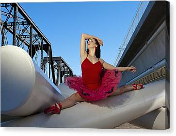 Ballet Splits Canvas Print by Michael Yeager