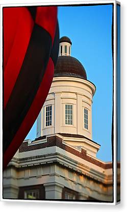 Canvas Print featuring the photograph Balloon And Dome Of The Canton Courthouse by Jim Albritton