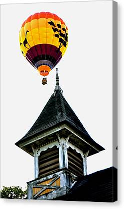 Canvas Print featuring the photograph Balloon By The Steeple by Rick Frost