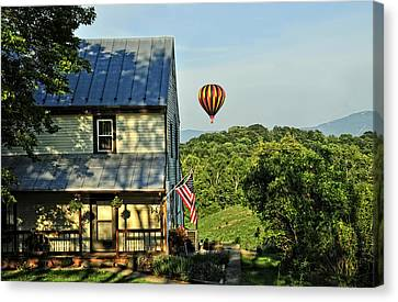 Balloon Country  Canvas Print by Lara Ellis