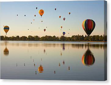 Balloon Festival Canvas Print by Lightvision, LLC