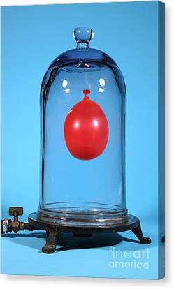 Balloon In A Vacuum, 3 Of 6 Canvas Print by Ted Kinsman