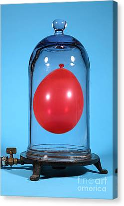 Balloon In A Vacuum, 5 Of 6 Canvas Print by Ted Kinsman