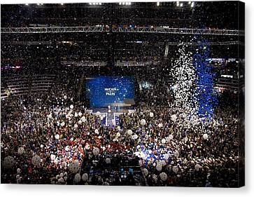 Balloons Drop At The Convention Center Canvas Print
