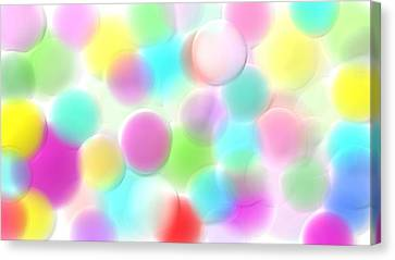 Balloons In The Sky Canvas Print by Rosana Ortiz