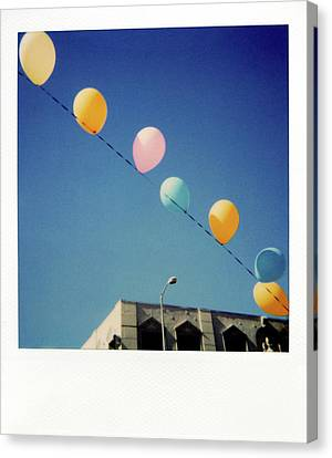 Balloons Canvas Print by Nicole Apatoff
