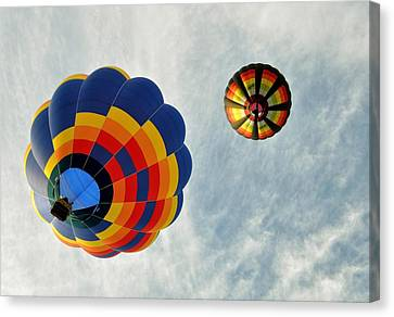 Canvas Print featuring the photograph Balloons On The Rise by Rick Frost