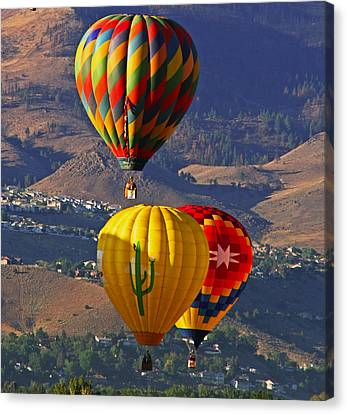 Balloons Over Reno Canvas Print by Dorothy Cunningham