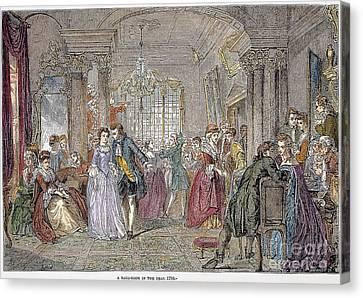 Ball Gown Canvas Print - Ballroom, 1760 by Granger