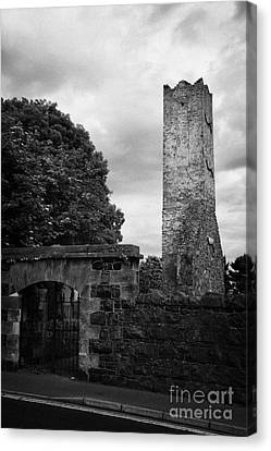 Ballymoney Old Church Tower And Graveyard From The 17th Century County Antrim Northern Ireland Canvas Print by Joe Fox