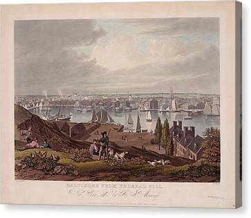 Baltimore Federal Hill Canvas Print by Charles Shoup