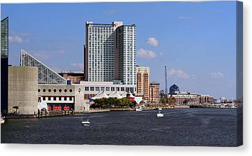 Baltimore Harbor Canvas Print by Karen Harrison