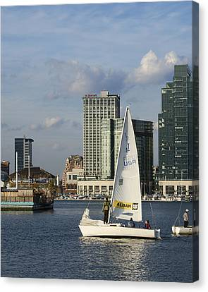 Baltimore Sail Boat - Maryland Canvas Print by Brendan Reals