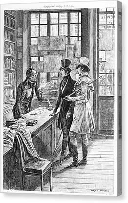 Balzac: Illustration Canvas Print by Granger