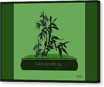 Bamboo Bonsai Canvas Print by Greg Long