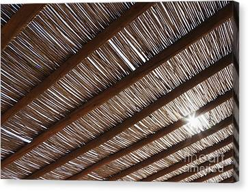 Bamboo Roof Canvas Print by Jeremy Woodhouse