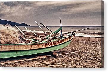 Banca Boat 2 Canvas Print by Skip Nall