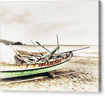Banca Boat Canvas Print by Skip Nall